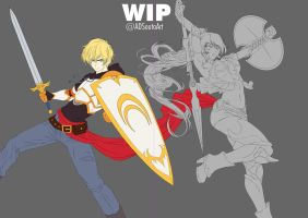 WIP Jaune and Pyrrah by ADSouto