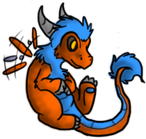 Basil - The Happy Little Dragon by spiralingdragon