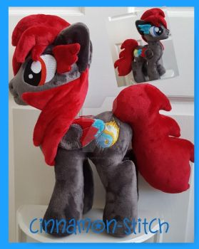 mlp plushie commission SHADOW FLARE by CINNAMON-STITCH