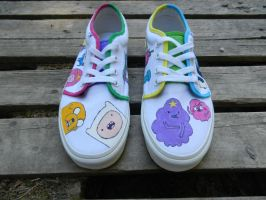 Adventure Time Shoes by Da-fuh-nee