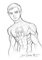 Spiderman Peter Parker by JoBonito