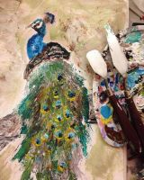 Palette Knife Peacock by goshilpa