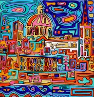 abstract Valletta by Evilpainter