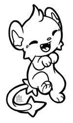 Shinx free to use lineart! by Scuterr