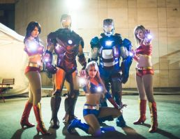 Iron Men and Ironettes by LexiStrife