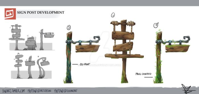 [5] Sign Post Development by Matt-Sanz