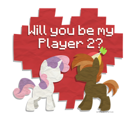 Valentines- Sweetie Belle and Button Mash by DrawnTilDawn