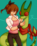 Redraw: Robin and Flygon by Southrobin