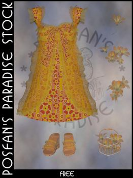 Spring Dress 002 with Accessories by poserfan-stock