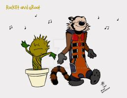 Rocket and Groot by AdamTupper