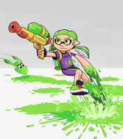 Comission -  Splatoon Sleak by WideMouthInk