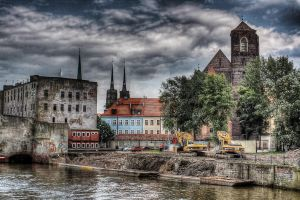 Wroclaw river I by Athrian