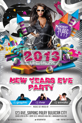 2013 new Year Flyer Template by koza30