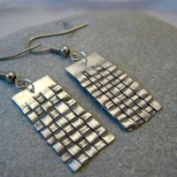 Basket Weave PMC Earrings Clay by dvinedesigns