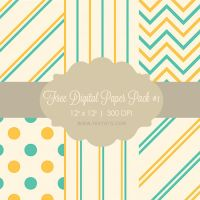 Free Digital Paper Pack #1 by Textuts