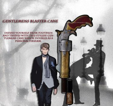 Gentlemans Blaster Cane by nemesisnow23