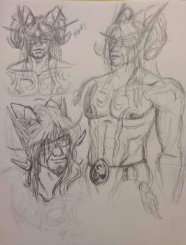Monax the Undying - Sketches by Raz-Xion