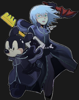 Mickey and Riku by AlSanya