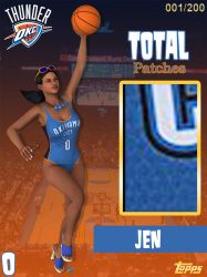 OKC Jen Jersey Card AT by ImfamousE