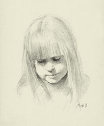 Quick portrait Sad Girl QPS by SILENTJUSTICE