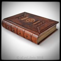 Medieval styled Grimoire book... by alexlibris999