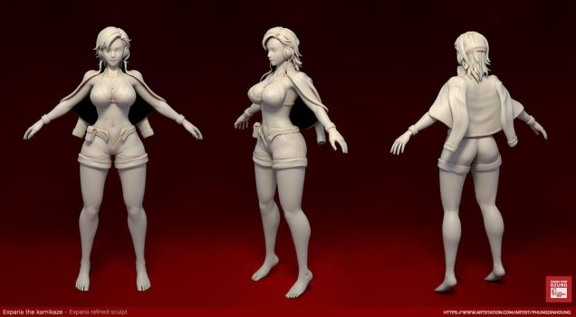 Exparia WIP Sculpt by phungdinhdung