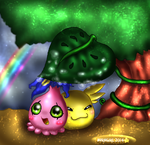 **After the rain comes the sun with the Rainbow* by norngirl
