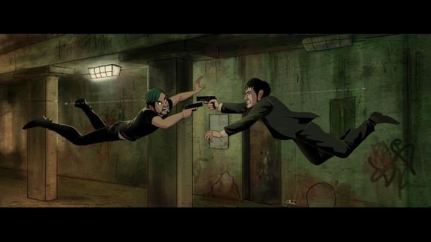 Movie Scenes parody - Matrix by maskman626