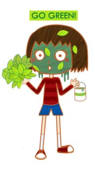 Naive Little Go Green Girl by m-inu