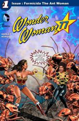 Wonder Woman against Formicida The Ant Woman by hamletroman