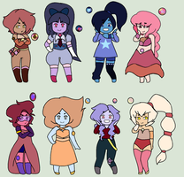 [CLOSED] Aura Quartz and Opal Adopts (0/8) by SkectchyPencil