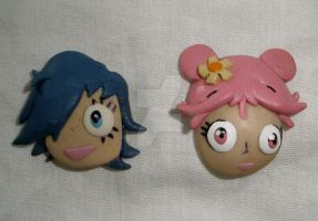 Clay PuffyAmiYumi Pins by HeyLookASign