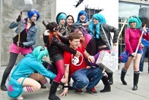Scott Pilgrim Harem 1 by spritepirate