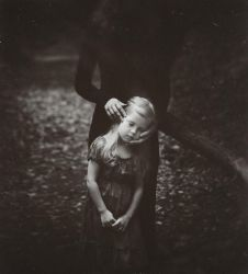 The little girl in the arms of her Shadow by NataliaDrepina