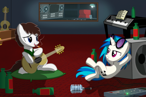Late Night Jam Session ~ Commission by PonyEcho