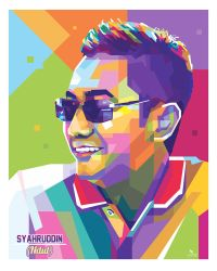 a Man at WPAP popart by. @opparudy by opparudy