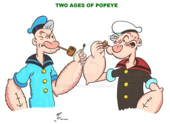 Popeye Two Ages by zombiegoon