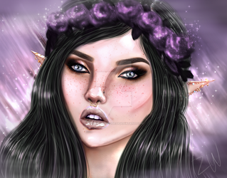 Elf Painting by DecomposedRose
