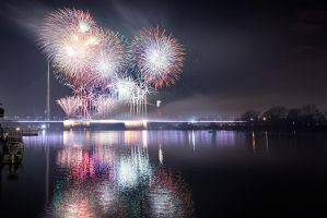 Belgrade new year  fireworks by BorisMrdja