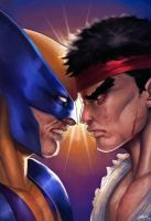 Wolverine Vs Ryu by RattlePool