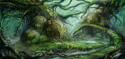 Forest Fantasy Village by Jcinc1