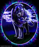 ' Spirit ' - Blue Lion by chrissi-dinos