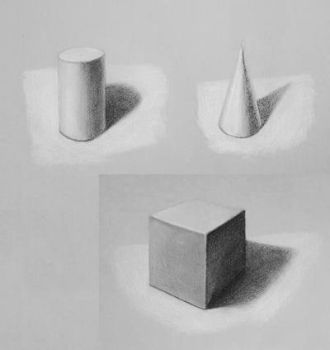 Basic light and shadow study by ProfessorPicasso