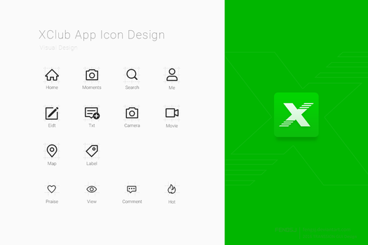 XClub App Icon Design by fengsj