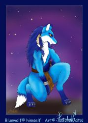 Com - BlueWolf by KuschelGarou