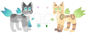 Feather Fox Adopts (CLOSED) by Ashaera1