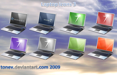 Laptop icons 3 by tonev