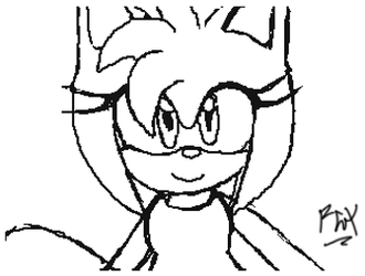 Flipnote Studio 3D- Amy by RGXSuperSonic
