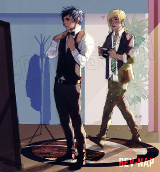 Getting Ready - Promptis (Commission) by Bev-Nap