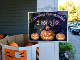 Pumpkin Sales Sign for LaBonne's by Magical-Mama